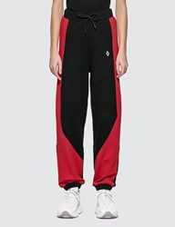 Marcelo Burlon Colorblock Logo Sweatpants Black