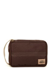 Timberland Canvas With Patch Flat Pack Travel Kit Brown