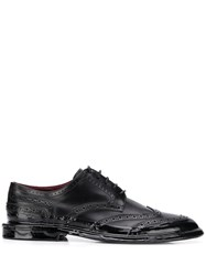 Dolce And Gabbana Vintage Brogue Shoes Black