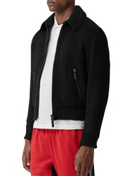 Burberry Wool And Cashmere Jacket Black