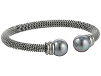 Majorica Steel Bangle Bracelet Silver Gray Bracelet
