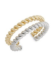 Punch Two Tone Twisted Bracelet Silver