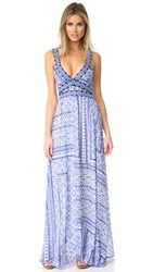 Ondademar Printed And Embroidered Dress Turquish