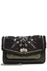 Zadig And Voltaire Skinny Love Shearling Shoulder Bag Black