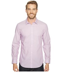 Calvin Klein Infinite Cool Stripe Button Down Purple Topaz Men's Long Sleeve Button Up