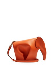 Loewe Elephant Mini Leather Cross Body Bag Orange