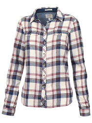 Fat Face Classic Fit Cotton Check Shirt Ivory Multi