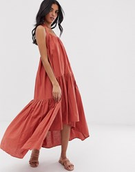 Lost Ink Midi Dress With Tiered Volume Skirt