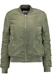 W118 By Walter Baker Tasha Padded Shell Bomber Jacket Army Green
