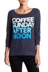 Chaser Long Sleeve Coffee Sunday Pullover Gray
