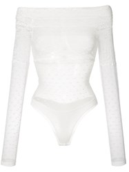 Faith Connexion Lace Off The Shoulder Top White