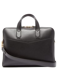 Dunhill Duke Single Document Leather Briefcase Black