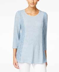 Styleandco. Style And Co. Contrast Lace Trim Top Only At Macy's