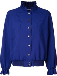 Vivetta Face Shapes Bomber Jacket Blue