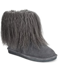 Bearpaw Boo Cold Weather Booties Women's Shoes Charcoal Lamb