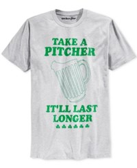 Mighty Fine Men's St. Patrick's Day Pitcher Graphic Print T Shirt