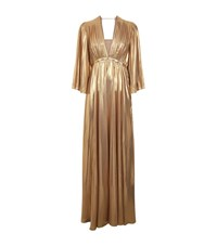Pinko Georgette Pleated Dress Female Gold
