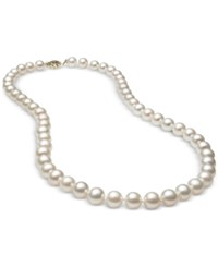 Belle De Mer Cultured Freshwater Pearl 7Mm Strand In 14K Gold White