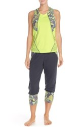 Maaji Blazing Teal Yoga Jogger Black