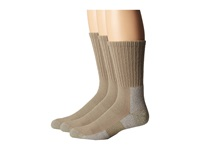 Thorlos Trail Hiking Crew Sock 3 Pair Pack Khaki Men's Crew Cut Socks Shoes