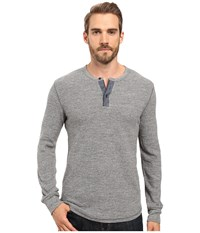 Lucky Brand Thermal Henley Heather Grey Men's Clothing Gray