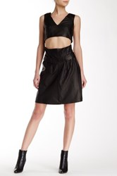 Thakoon Genuine Leather Dress Black