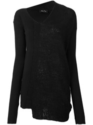 Andrea Ya'aqov Panelled V Neck Jumper Black