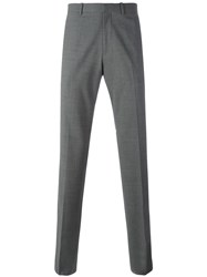 Theory 'Marlo' Straight Leg Trousers Grey