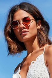 Replay Vintage Round Sunglasses Gold