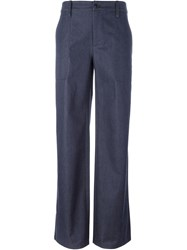 Societe Anonyme Wide Leg Trousers Blue