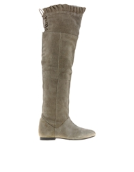 Park Lane Over The Knee Boots Taupe