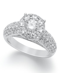 Macy's Prestige Unity Diamond Engagement Ring In 14K White Gold 2 Ct. T.W.
