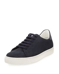 Anya Hindmarch Wink Nubuck Leather Tennis Sneaker Blue