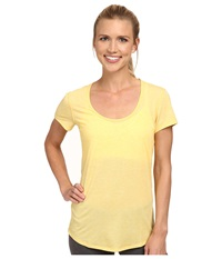 Lucy S S Workout Tee Amber Glow Heather Women's Workout Yellow