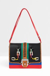 Paula Cademartori Plastic Embellished Messenger Red