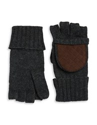 Lauren Ralph Lauren Wool Blend Convertible Mittens Grey