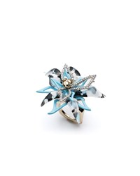 Alexis Bittar Layered Poppy Print Lucite Cocktail Ring Multi