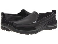 Skechers Relaxed Fit Superior Gains Black Men's Slip On Shoes