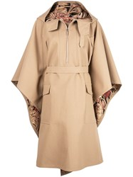 Salvatore Ferragamo Zip Front Cape Neutrals