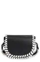 French Connection Small Claudia Whipstitch Faux Leather Saddle Bag