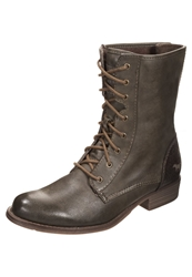 Mustang Laceup Boots Khaki
