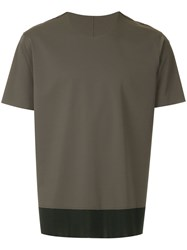 Attachment Two Tone T Shirt Brown