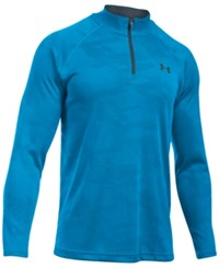 Under Armour Men's Ua Tech Quarter Zip Jacquard Shirt Ble Ble St