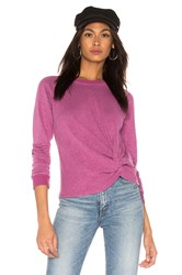 Monrow Front Twist Sweatshirt Purple