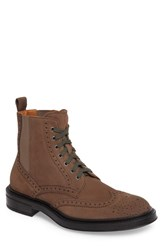 Aquatalia By Marvin K 'S Lawrence Wingtip Boot Dark Taupe