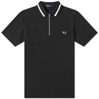 Fred Perry Authentic Vinyl Tipped Zip Polo