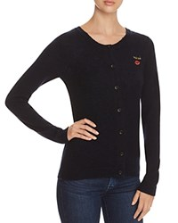 Scotch And Soda Embroidered Cardigan Navy