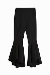 Ellery Sinous Flared Crop Trousers Black
