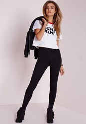 Missguided Tall Basic Jersey Leggings Black
