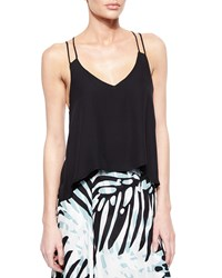 Parker Knox Silk Strappy Tank Black